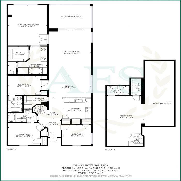 AES 2952 Floorplans