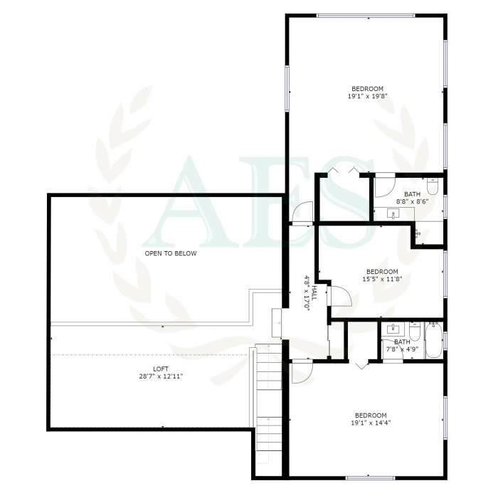 Abaco Estate Services Listing #2784 Floor Plan - Second Level